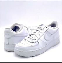 Nike Youth Women Air Force 1 Low Triple White Sneakers Leather 314192-117 - $48.51