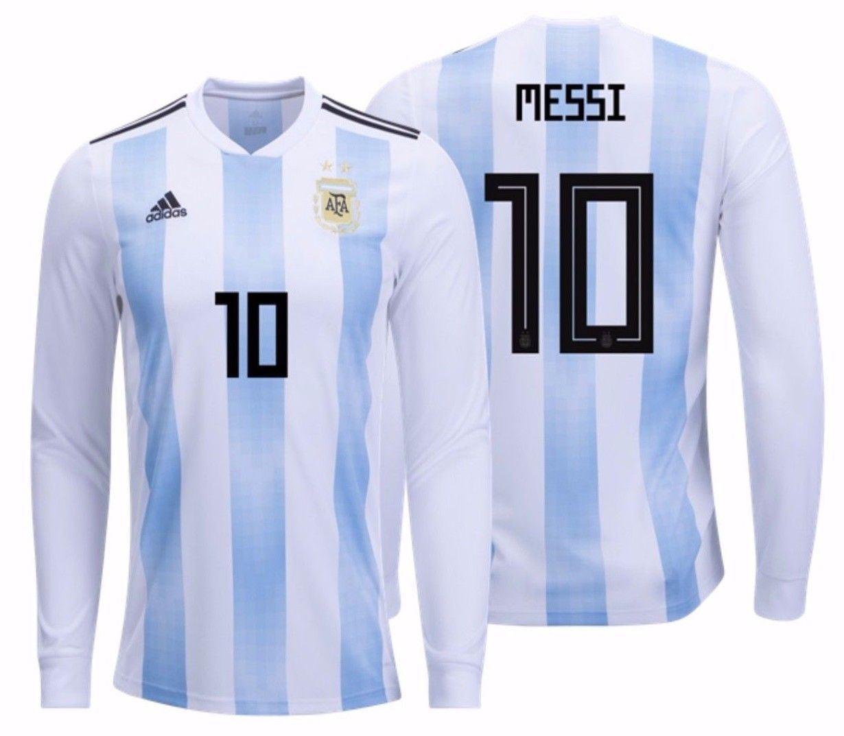 39b3eea18b9 S l1600. S l1600. Previous. ADIDAS LIONEL MESSI ARGENTINA LONG SLEEVE HOME  JERSEY FIFA WORLD CUP 2018. ADIDAS ...