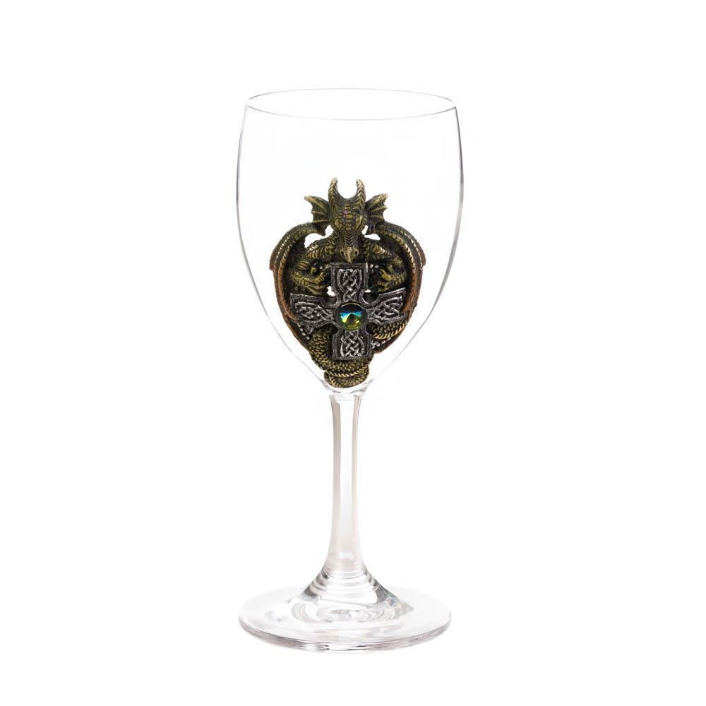 """Green Dragons Medieval Chalice Wine Goblet 7-1//4/"""" w// Stainless Steel Cup Insert"""