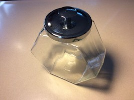 Clear Glass Canister Jar Metal Lid - $8.59
