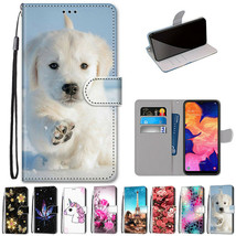 For Samsung Galaxy A10 A20S 20E A5 Case Pattern Wallet Leather Shockproof Cover - $52.85