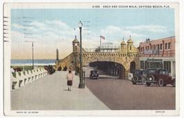DAYTONA BEACH Florida FL, Arch and Ocean Walk 1930s postcard - $2.95
