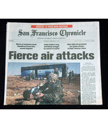 9/11 Iraq Guerra San Francisco Chronicle Marzo 28 2003 Fierce Air Attacks - $38.08