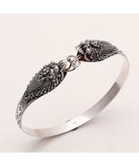 925 Sterling Silver Electric Fish Carved Bangle Bracelet Animal Fine Jew... - $60.08