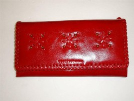 Kenneth Cole Reaction Red Clutch Wallet,See Description For Pictures - $29.69