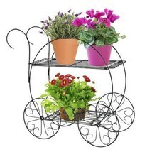 Tiered Garden Cart Vintage Planter Pot Flower Container Garden Lawn Pati... - $56.85 CAD