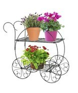 Tiered Garden Cart Vintage Planter Pot Flower Container Garden Lawn Pati... - £33.13 GBP