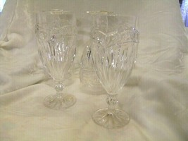 Wine Water Glasses Bleikristall Made In W. Germany Crystal 24% Pbo 4 Pieces - $48.37
