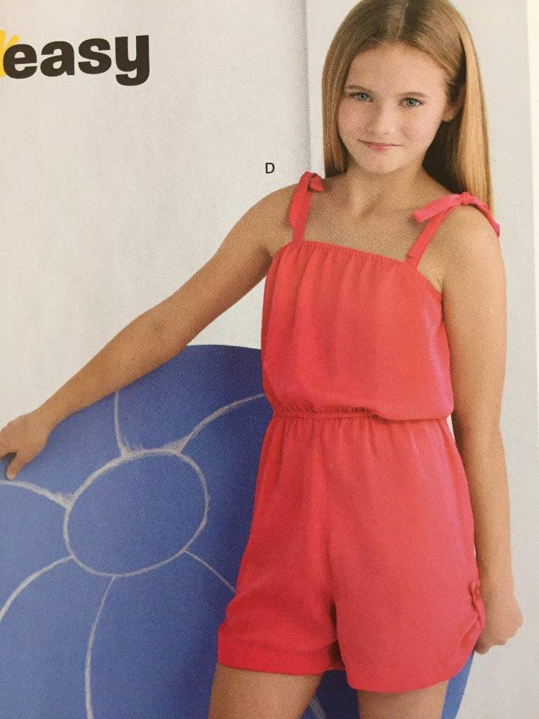 a1b917e2edf New Look Sewing Pattern 6389 Girls Jumpsuit Dress Romper Size 8-16 New