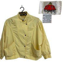 Vintage Flashers etc women's jacket yellow full brooch front size XL - $32.90