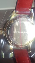 NWT *AUTHENTIC* Burberry BU10102 Women's Swiss Red Leather Strap Watch image 4