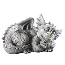 Ct Discount Store Mythical Sleeping Baby Dragon Garden Sculpture Left - $27.14
