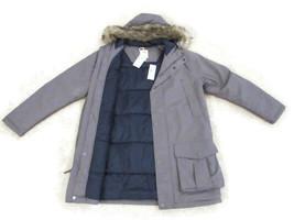 TIMBERLAND Men's Gray Waterproof Faux Fur Hooded Parka Jacket Size L, #8... - $62.39