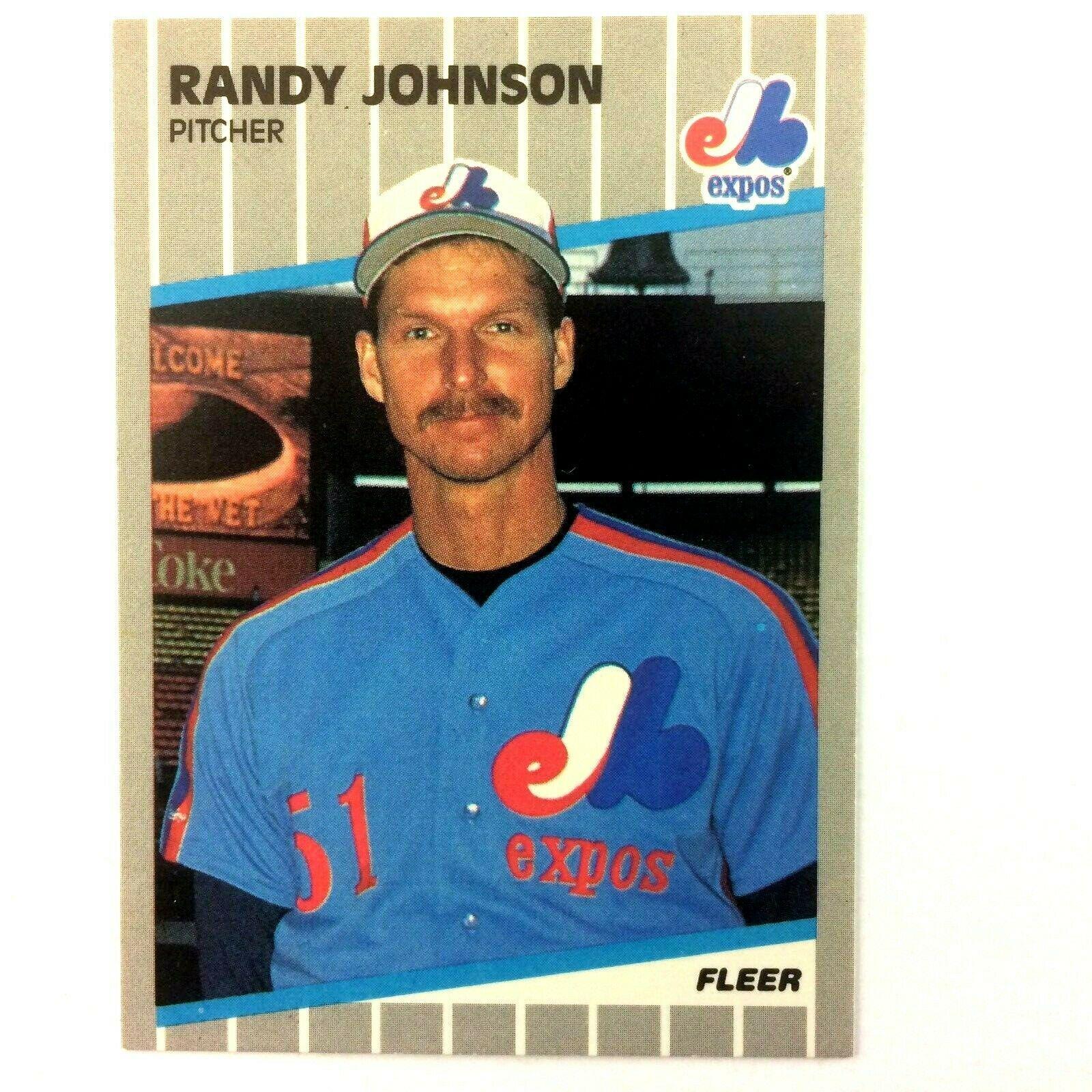 Randy Johnson 1989 Fleer Rookie Card #381 MLB HOF Montreal Expos - $2.92