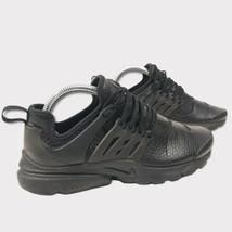 Nike Womens Air Presto Premium Triple Black Leather Sneakers 878071-002 ... - $99.00
