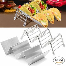Taco Holder Set,Stainless Steel Taco Holders Stand with 2 Types,Hold 2 o... - $24.52