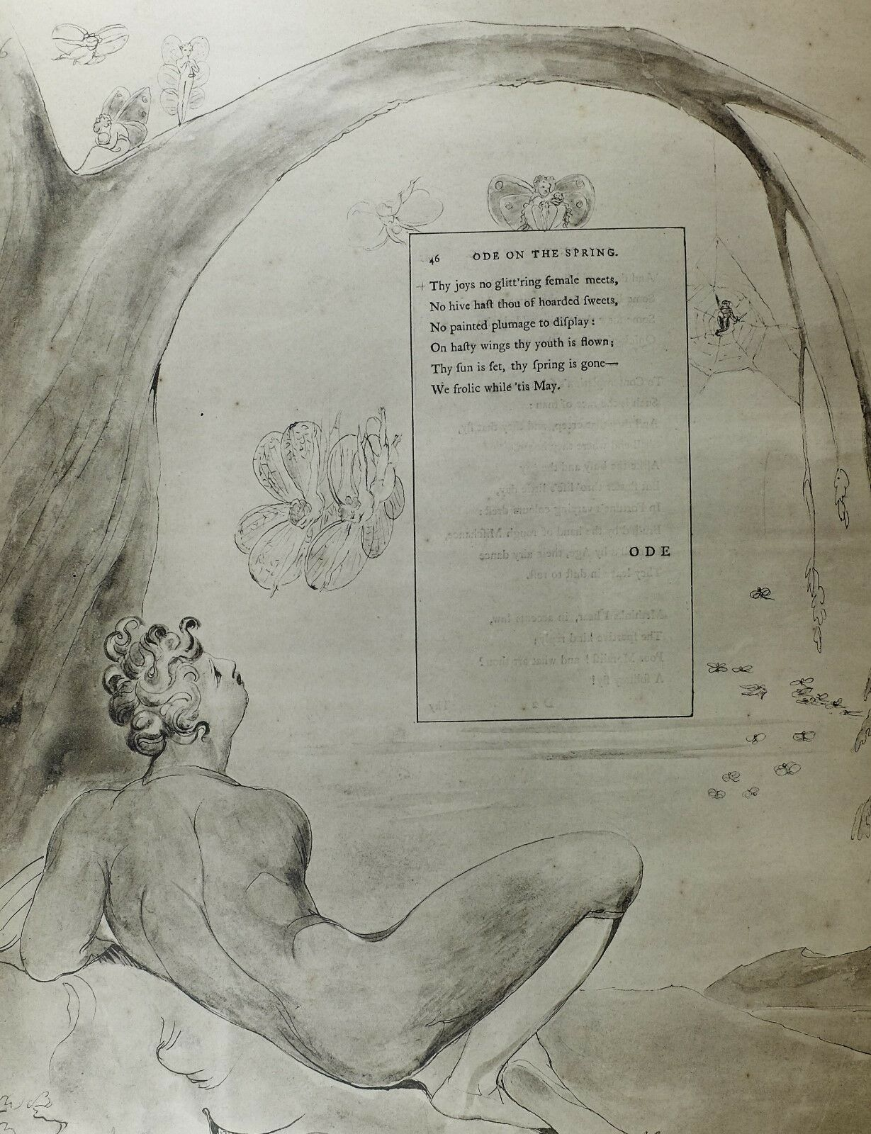 Primary image for 1922 FULL SIZE WILLIAM BLAKE LARGE PRINT THOMAS GRAY'S POEM ODE ON THE SPRING