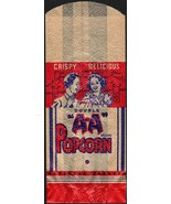 Vintage bag DOUBLE AA POPCORN boy girl circus tent pictured new old stoc... - $8.99