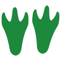 LiteMark Green Removable Dinosaur Tracks Decal Stickers - Pack of 12 - $19.95