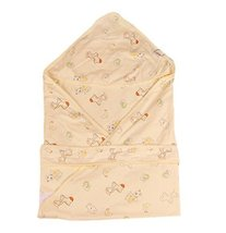 Lovely Cartoon Series Soft Baby Hooded Bath Towel, Yellow (100100CM)