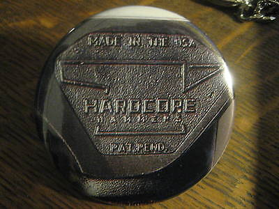 Hardcore Hammer Head Made in USA Advertisement Button Pin