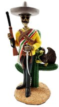 Gifts & Decor Day of The Dead Skeleton Emiliano Zapata Salazar Mexican Revolutio - $29.95
