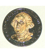 1982 George Washington American President Double Eagle .999 Silver 24k G... - $12.85