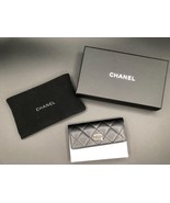CHANEL Caviar Leather O-Card Holder O-Case Wallet NEW WITH BOX - $751.41