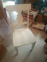 Pier 1 white chair small crack fixer upper - $98.00