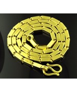 """chain necklace 22k authentic yellow gold 22"""" long gift her, him Mothers day - $5,743.58"""