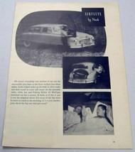 1949 Magazine Photo Nash Airflyte 4-Door Sedan with Double Bed - $13.48