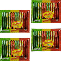 4 Pack Lot - Starburst - Green Apple, Lemon and Strawberry Candy Canes 48 Total image 1