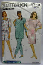 Butterick 4749  Fast and Easy Misses Dress Top Shorts and Pants All Sizes - $2.00