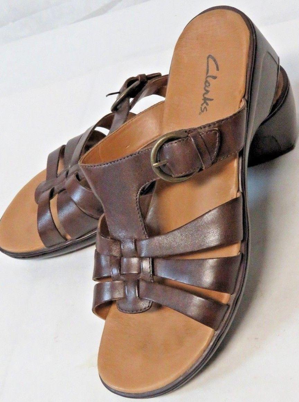 c71fe58dd9f 57. 57. Previous. Women s Clarks Khali Slides Brown Leather Sandals 79253  Size 11M · Women s Clarks ...