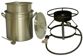 King Kooker 50-Quart Aluminum Ridge Pot With Steamer Basket And Propane ... - $95.26