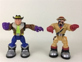 Rescue Heroes Action Figures Body Force Brandon and Irons Mo Zambeek 200... - $17.77