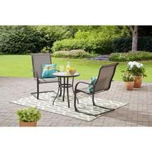 Outdoor Bistro Set Patio Garden Yard Furniture 3 Piece Table Chair Chair... - $118.88