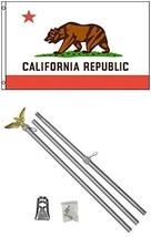 ALBATROS 3 ft x 5 ft State of California Flag Aluminum with Pole Kit Set... - $48.63