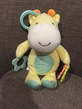 Child Of Mine Plush Giraffe Baby Rattle Teether Clip Toy Yellow Stars 10... - $18.68