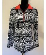Lands' end Soft Fleece Pullover 1/2 Zip Size XL 18 Black - $20.36