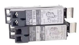 LOT OF 2 ALLEN BRADLEY 595-AB AUXILIARY CONTACTS SER. B & C, 595AB