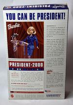 Mattel BARBIE Girls Blonde Doll NIB President 2000 Red Blue Dress White House image 7