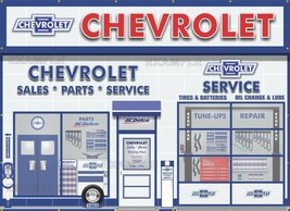 Chevrolet Dealer Sales Service Scene Wall Mural Sign Banner Garage Art 8' X 11' - $172.76