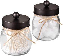 Apothecary Jars Set,Mason Jar Decor Bathroom Vanity Storage Organizer Br... - $29.99