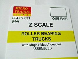 Micro-Trains Stock # 00402031 #956 Roller Bearing Trucks w/ Magnetic Couplers (Z image 1