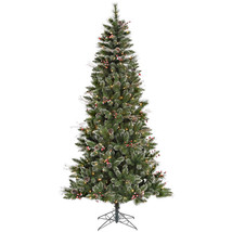 Vickerman 4.5' Snow Tipped Pine and Berry Artificial Christmas Tree with... - $99.56