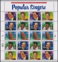 USA 1994 SC#2849-2853 POPULAR SINGERS, Stamps MNH VF Fast free shipping - $15.35