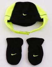 Nike Black & Volt Fleece Winter Hat & Mittens Toddler 2-4T Toddler 2T - ... - $22.27