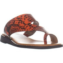 Franco Sarto Ginny Flat Slide Sandals, Red Leather, 7.5 US / 37.5 EU - $32.63