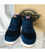 Dickies Athletic Work Steel Toe Sz 9 Shoes Navy Blue Leather Mesh White ... - $56.87